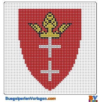 Bügelperlen Vorlage Wappen Danzig